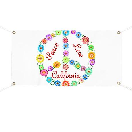 Peace Love California Banner