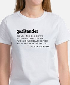 Goaltender Women's T-Shirt