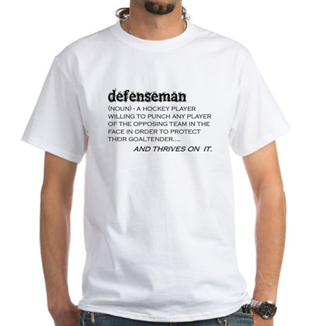 Defenseman White T-Shirt