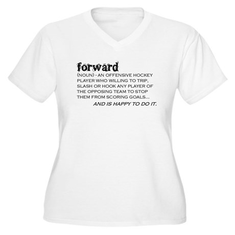 Forward Women's Plus Size V-Neck T-Shirt
