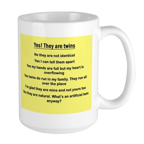 Large yes they are twins Mug