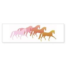 many horses Bumper Bumper Sticker