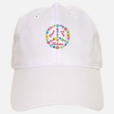 Peace Love Alabama Baseball Baseball Cap