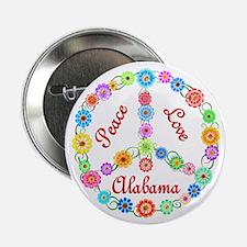 """Peace Love Alabama 2.25"""" Button"""