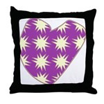 Purple Love Explosion Throw Pillow