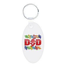 Autism Dad I Love My Child Keychains