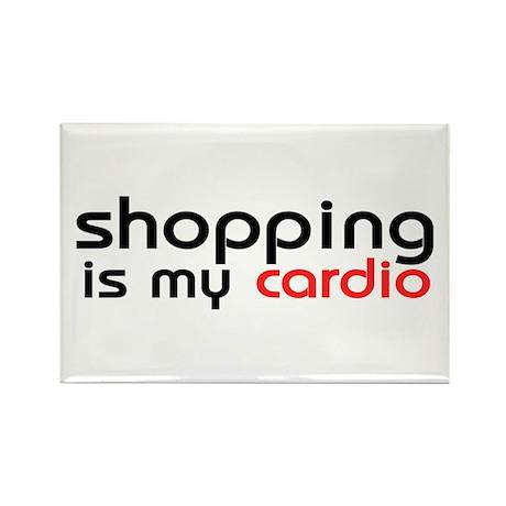 Shopping Cardio Rectangle Magnet