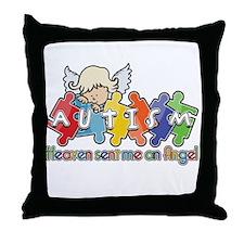 Autism Heaven SentMeAnAngel Throw Pillow