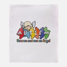 Autism Heaven SentMeAnAngel Throw Blanket