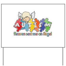 Autism Heaven SentMeAnAngel Yard Sign