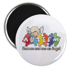"Autism Heaven SentMeAnAngel 2.25"" Magnet (100 pack"