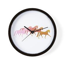many horses Wall Clock