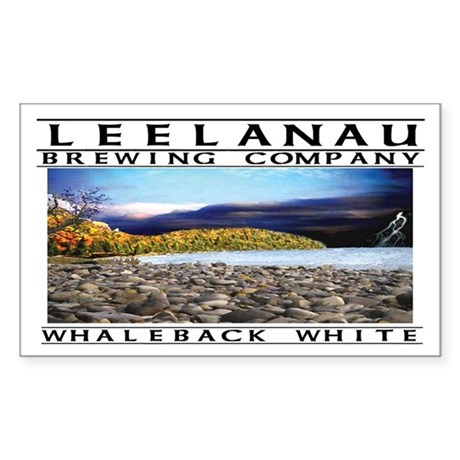 Whaleback White Rectangle Sticker