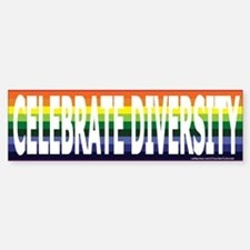 Celebrate Diversity! Bumper Bumper Bumper Sticker