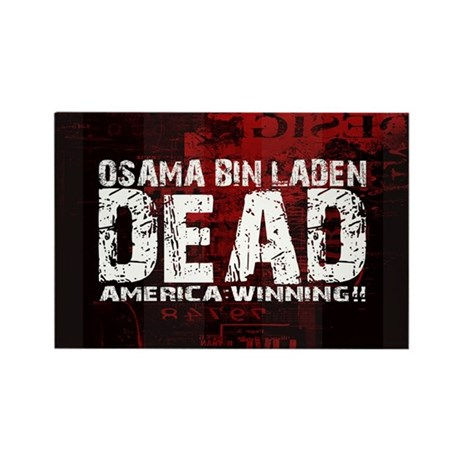 Osama Dead Rectangle Magnet (10 pack)