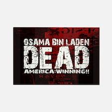 Osama Dead Rectangle Magnet