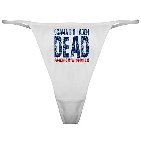 Osama Dead Classic Thong
