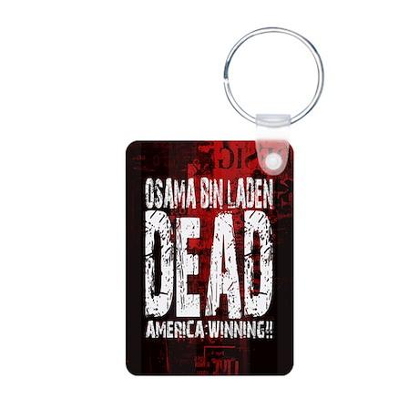 Osama Dead Aluminum Photo Keychain