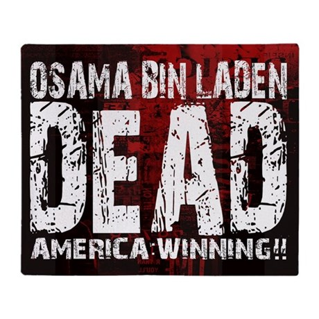 Osama Dead Throw Blanket