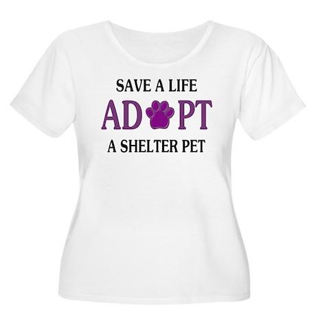 Save A Life Women's Plus Size Scoop Neck T-Shirt