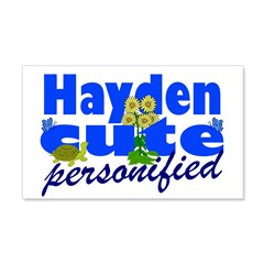 Cute Hayden 22x14 Wall Peel