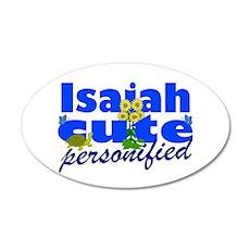 Cute Isaiah 22x14 Oval Wall Peel