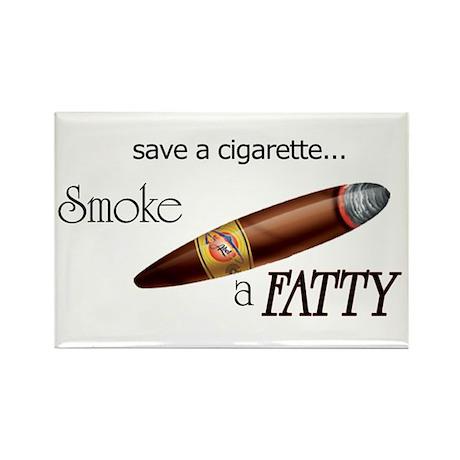 Smoke a Fatty Rectangle Magnet
