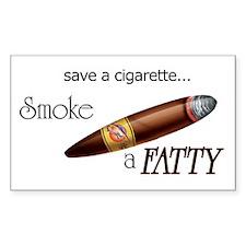 Smoke a Fatty Rectangle Decal