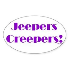 Jeepers Oval Decal