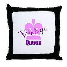Vintage Queen Throw Pillow