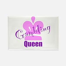 Gambling Queen Rectangle Magnet