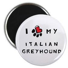 I *heart* My Italian Greyhoun Magnet