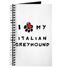 I *heart* My Italian Greyhoun Journal