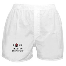 I *heart* My Italian Greyhoun Boxer Shorts