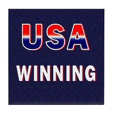 USA WINNING Tile Coaster