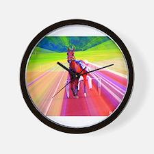 Cute Harness racing Wall Clock