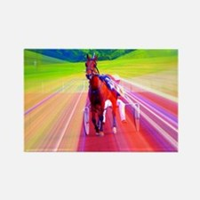 Cute Standardbred horse Rectangle Magnet