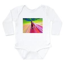 Cute 2013 horse Long Sleeve Infant Bodysuit