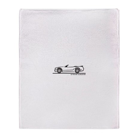 Ford GT Mustang Convertible Throw Blanket