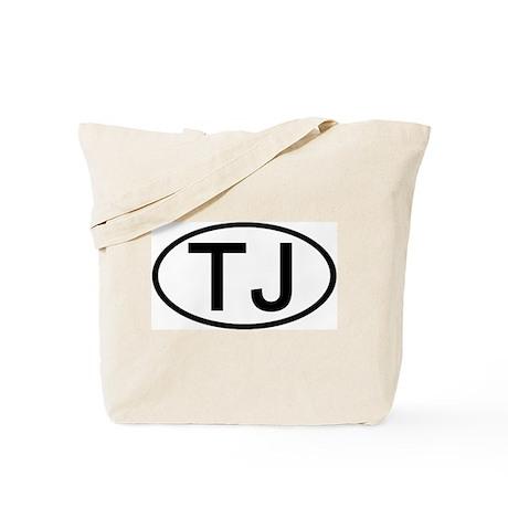 TJ - Initial Oval Tote Bag