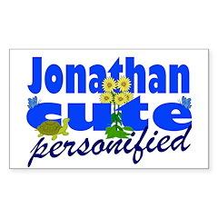 Cute Jonathan Sticker (Rectangle 50 pk)