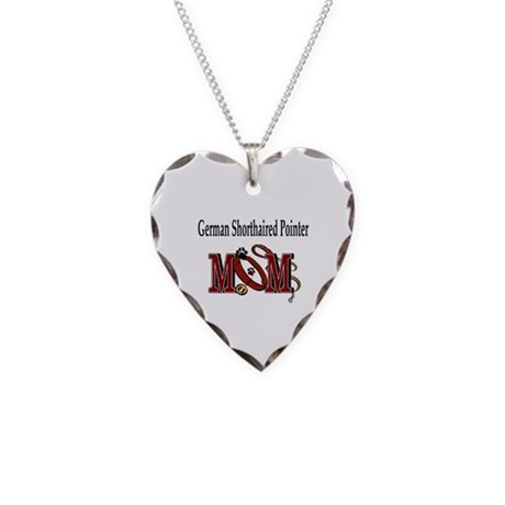 German Shorthaired Pointer Necklace Heart Charm