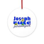 Cute Joseph Ornament (Round)