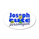 Cute Joseph 22x14 Oval Wall Peel