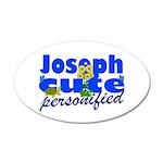 Cute Joseph 38.5 x 24.5 Oval Wall Peel