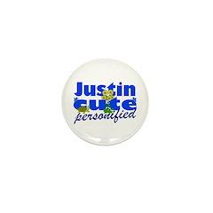 Cute Justin Mini Button