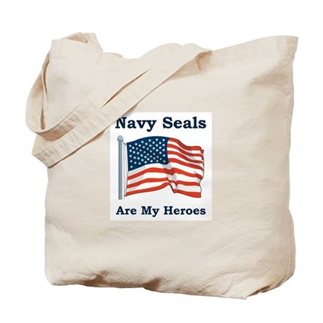 Navy Seals Are My Heros Tote Bag