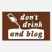 """""""Drink n Blog"""" Rectangle Decal"""