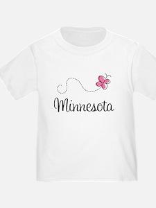 Minnesota Pink Butterfly T-Shirt
