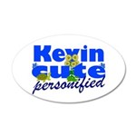Cute Kevin 22x14 Oval Wall Peel